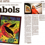 Newspaper article on L. Gruger Artwork