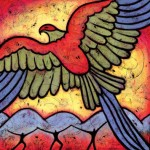 You are Free to Go - Phoenix rising bird painting