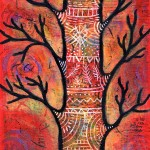 "New whimsical ""Peace"" tree commissioned painting"