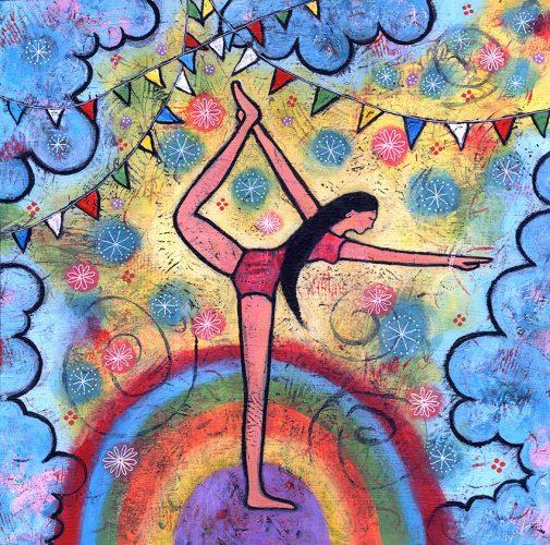 yoga girl painting