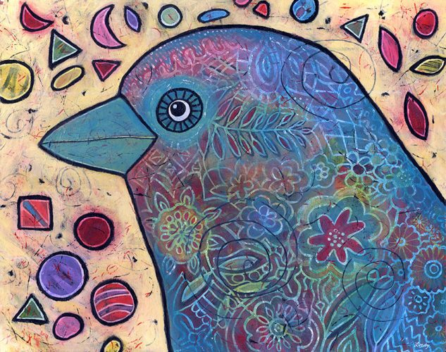 birdie love painting