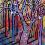 Prayer Flags and Trees Painting