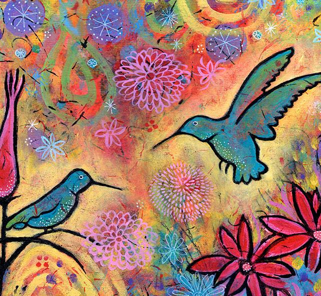 Enchanted-Hummingbirds-detail