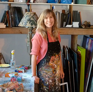 Lindy in Bend, Oregon Art Studio