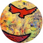 """#twitterartexhibit created by David Sandum and my """"Flying From a Leap of Faith"""" Art"""