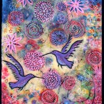 A Hummingbird Garden painting by Lindy Gaskill