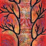 Jewel of the Forest enchanted tree painting