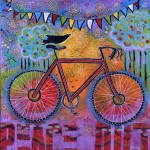 Peace Out Bicycle Painting