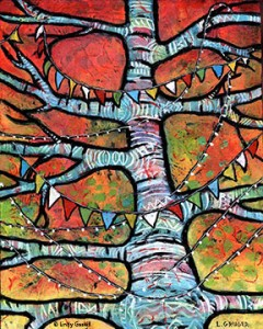 Peace Tree painting by Lindy Gaskill