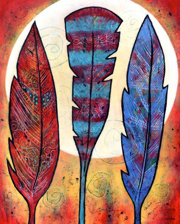 Three Feathers Shine with the Moon, sold