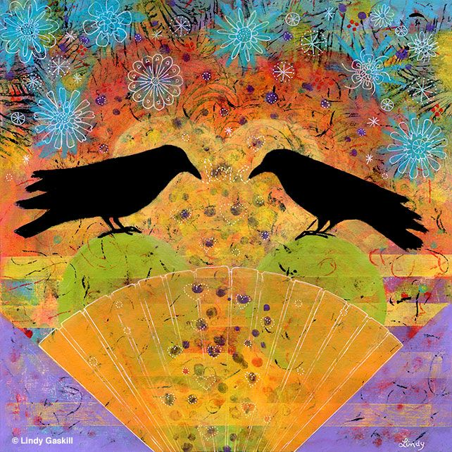 Two Ravens Sit and Reflect on Love, sold