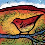 She Heard the Desert Calling - Bird painting by Lindy Gaskill