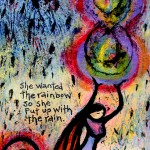 She Wanted the Rainbow painting by Lindy Gaskill