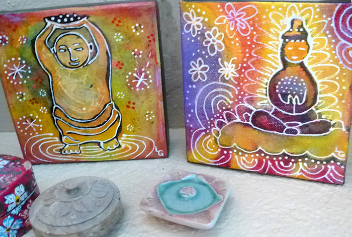 100 My Little Buddha painting series