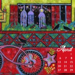 April Desktop Wallpaper Calendar and New Painting
