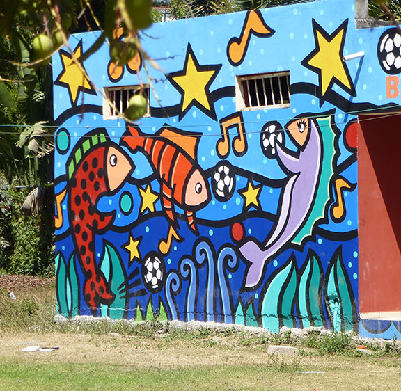 San Pancho art wall