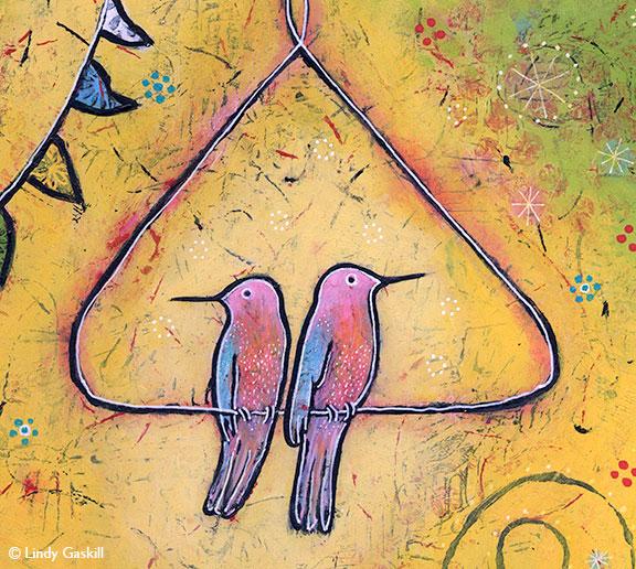 close up of bird painting