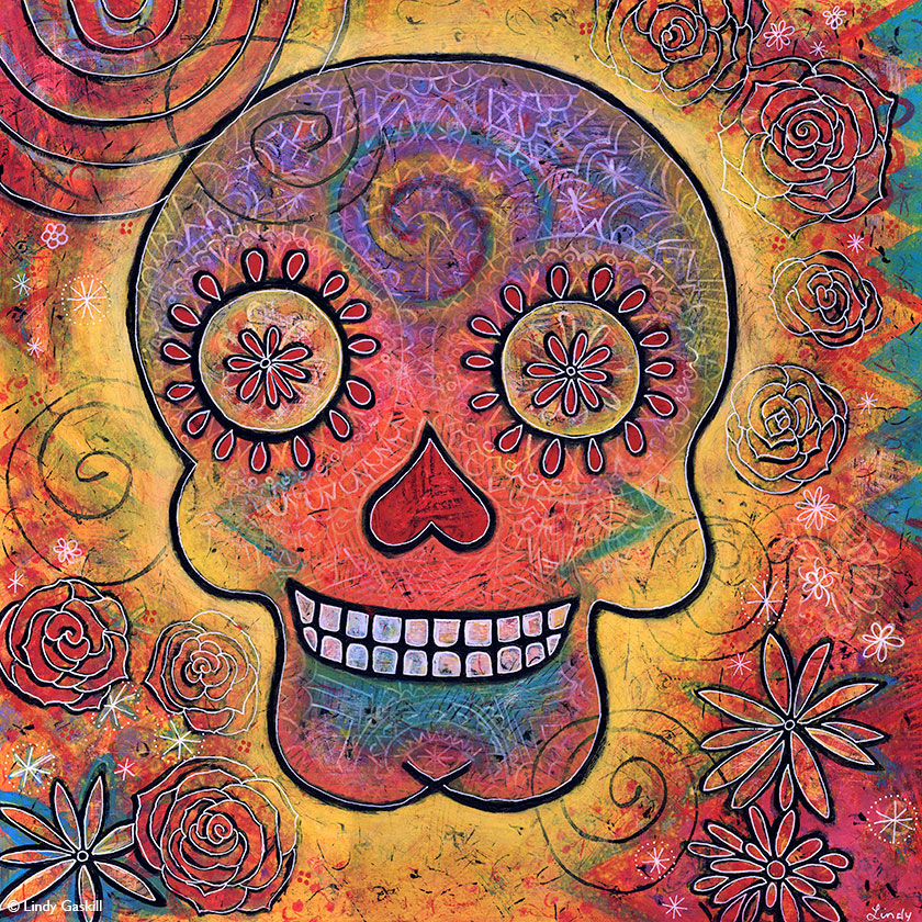 Dia de Muertos painting by Lindy Gaskill