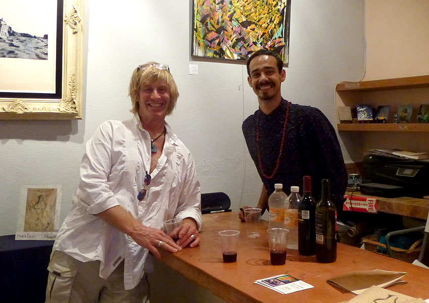 Greg and Mojo in Sayulita Fine Art Gallery