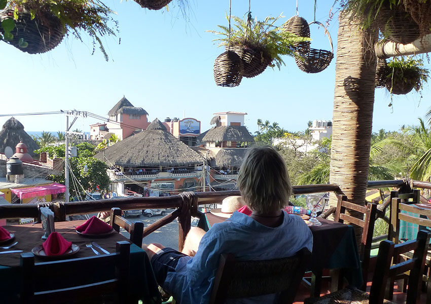 Greg enjoying Sayulita view