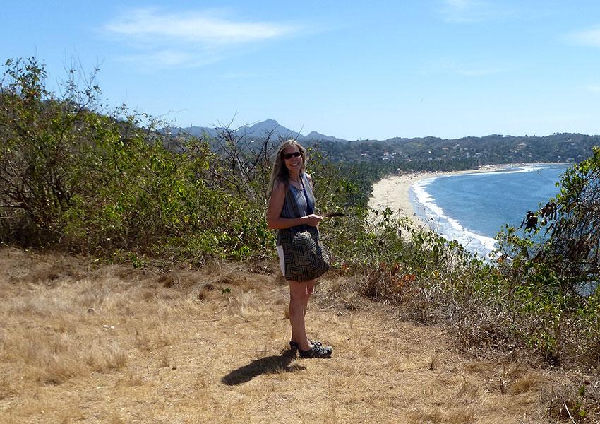 Checking out the views of Sayulita