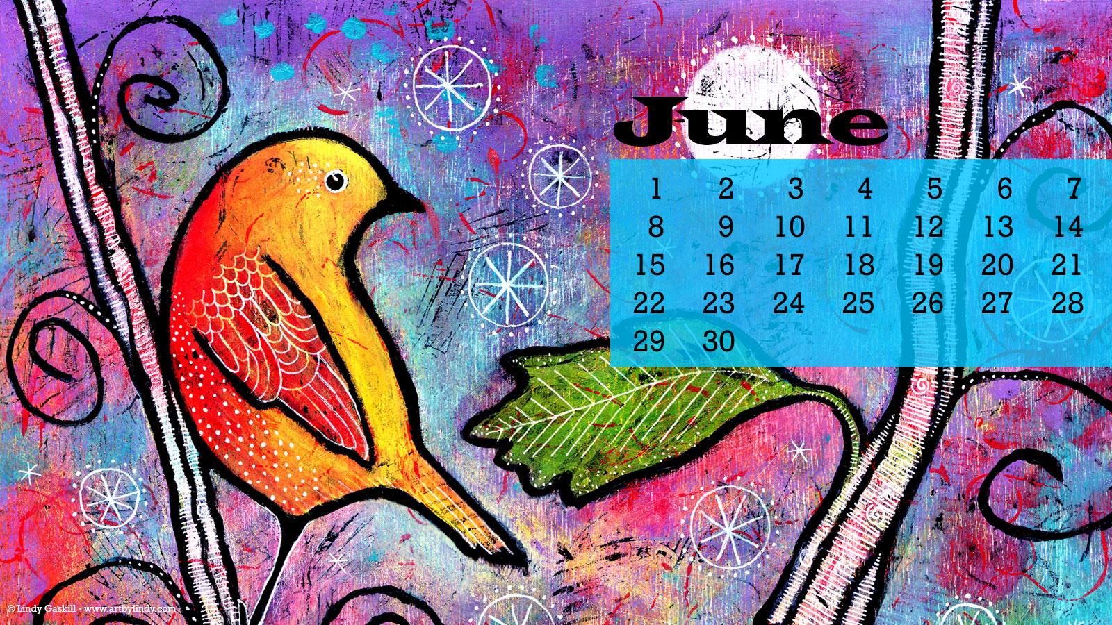June Desktop Wallpaper Calendar