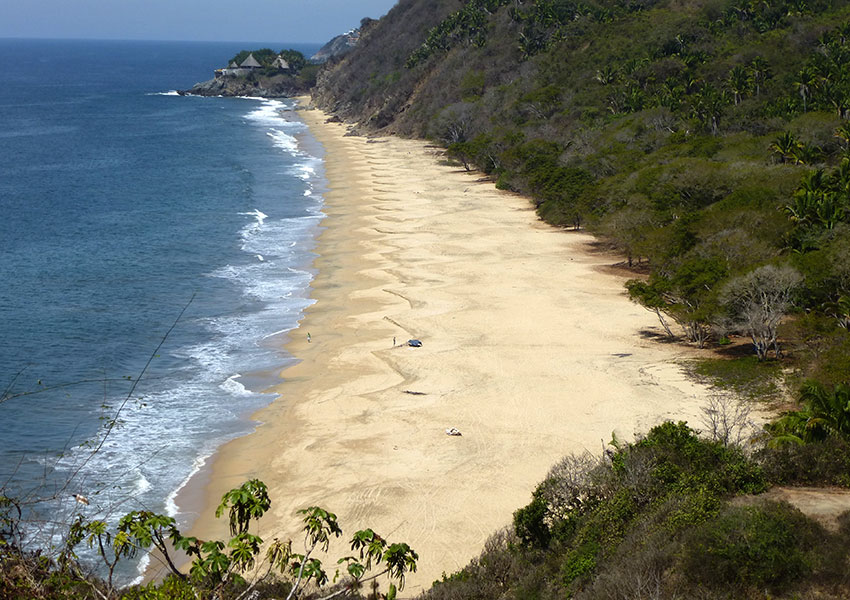 Sayulita Beach looking north