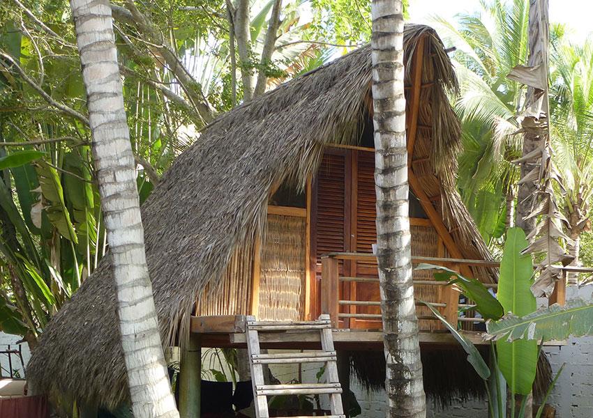 bamboo cabana seen in Sayulita