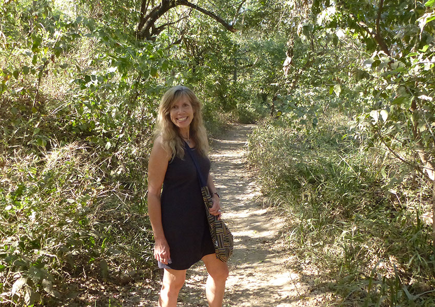 Walking on trails in Sayulita