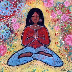 Black Haired Yoga Gir.