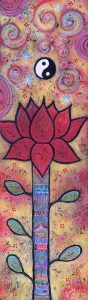 Light Energy Lotus painting