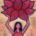 Yoga Girl holding Lotus