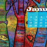 January 2015 Desktop Wallpaper Calendar