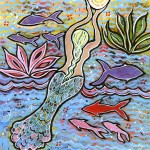 """Mermaid Painting """"She Carried the Light"""""""