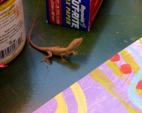 little gecko friend