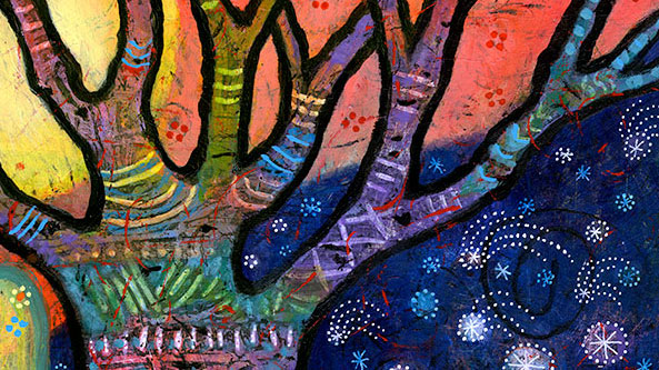 Colorful Tree Art – Watch the Sun, Follow the Stars