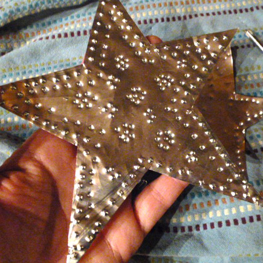 Homemade Christmas Star Ornament: DIY Aluminum Star Christmas Ornaments