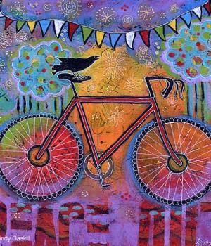 Raven and Bike Print