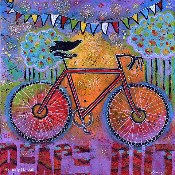 Archival Print – Bike and Raven Art Giveaway