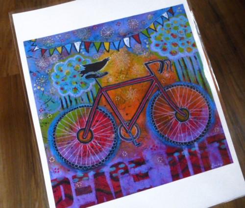 Raven and bike art