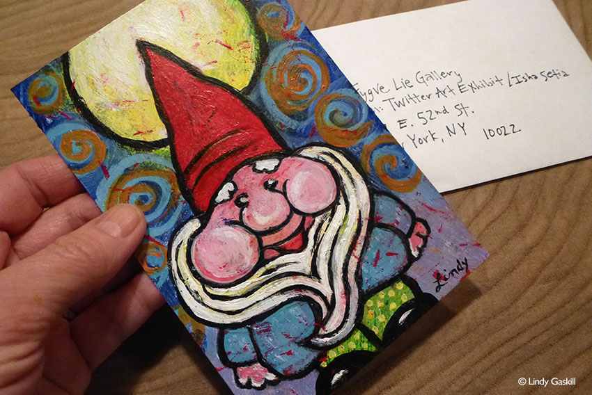Gnome Painting for Twitter Art Exhibit