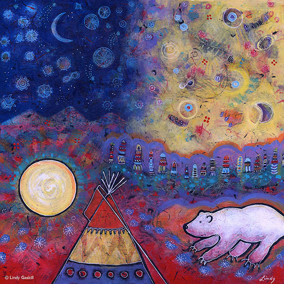 Spirit Bear Painting