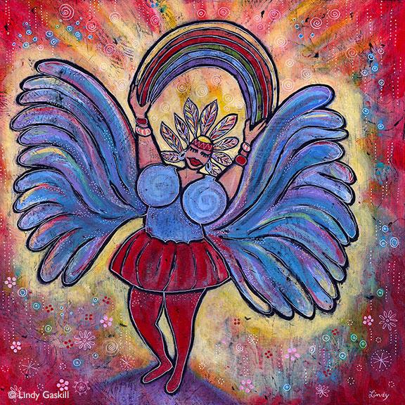 Painting Inspired by Niki de Saint Phalle Art