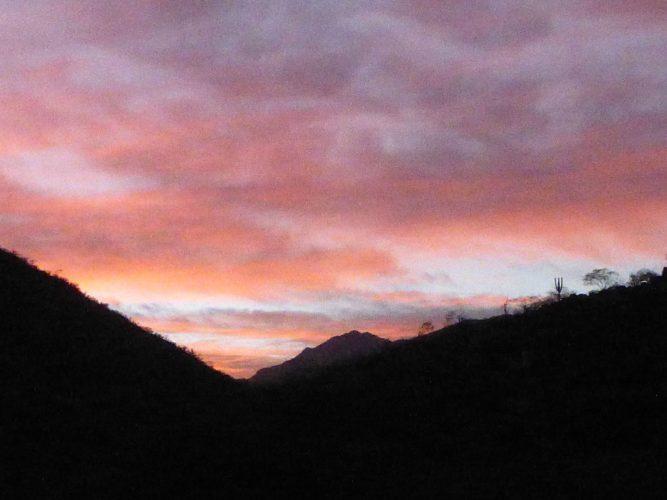 Sunset at Santiago Waterfall