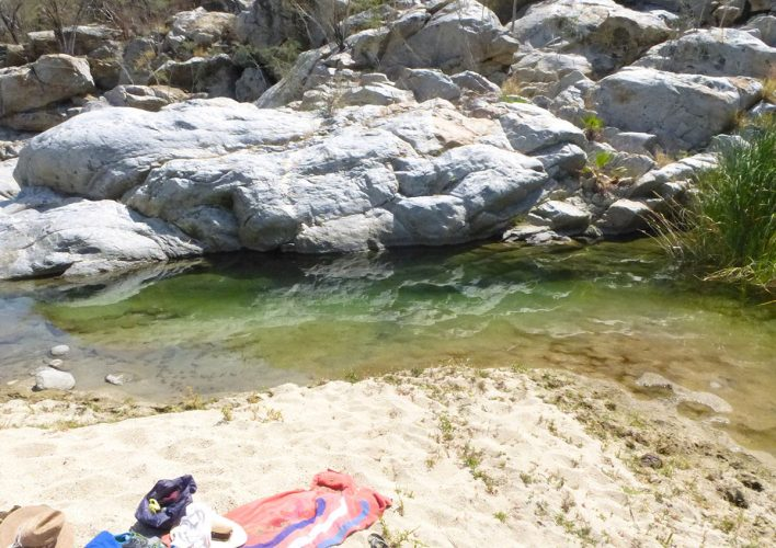 Swimming hole at Santiago Waterfall