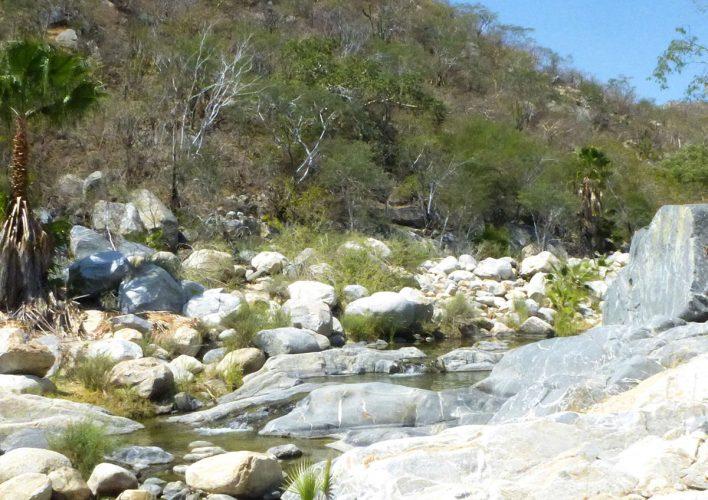 Waterfall pools at Santiago Waterfall