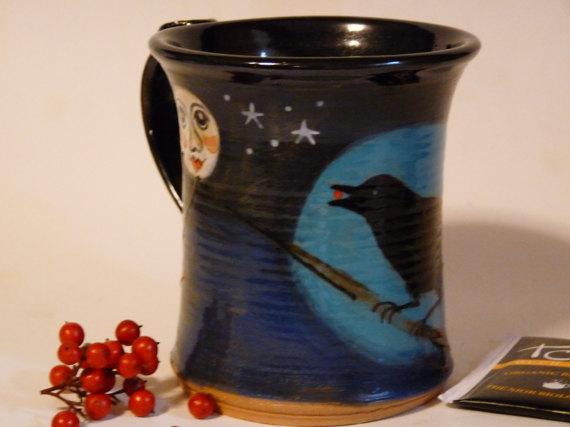 Sand Hills Pottery Raven Mug