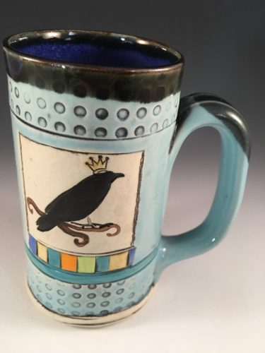 Allisa Clark Clay Works Raven Mug