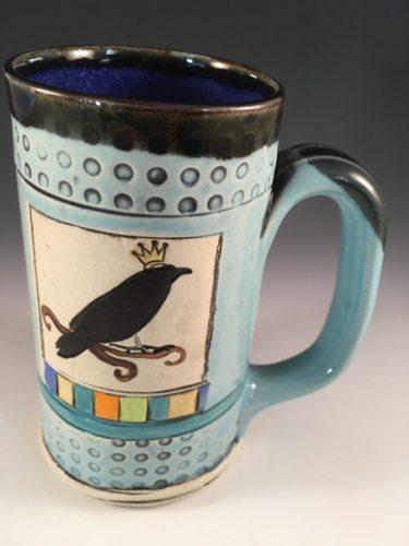 Allisa Clark Clay Works Raven Mug