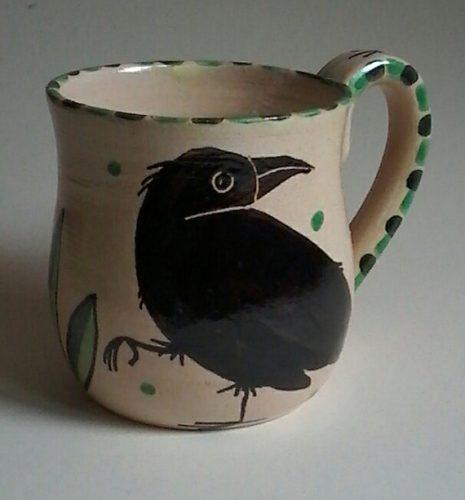 Dancing Hare Pottery Raven Mug